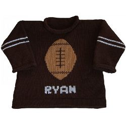 Personalized Child's Football Pullover Sweater