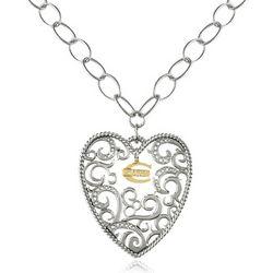 Just Cavalli Deco Big Heart Pendant Chain Necklace