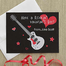 Kids' Personalized Valentine's Day Rock Star Cards
