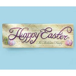 Personalized Happy Easter Wall Canvas