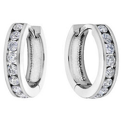 Huggie Hoop 1/2 Karat Diamond Earrings