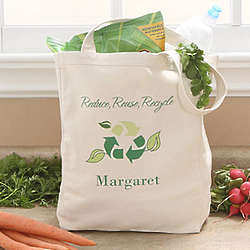 Go Green Eco-Friendly Personalized Reusable Shopping Bag