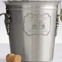 Personalized Wedding Carriage Wine Bucket