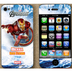 Personalized Avengers iPhone Skin