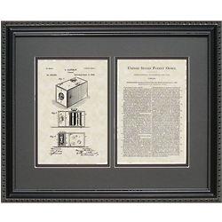 Camera 16x20 Patent Framed Art