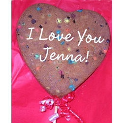 Personalized Giant Heart Cookie Pop