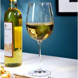 Monogrammed Vino Grande White Wine Glass