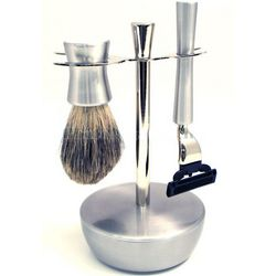 Mach 3 Razor with Badger Brush and Soap Dish