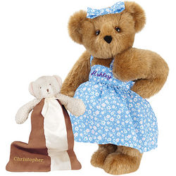 Pregnancy Mama Teddy Bear with Baby Bear Blanket