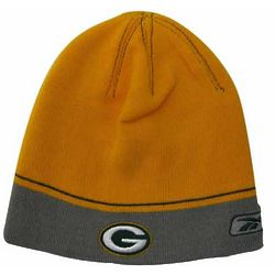 Boy's Green Bay Packers Gold Logo Knit Hat