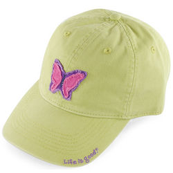 Girl's Butterfly Tattered Green Chill Cap