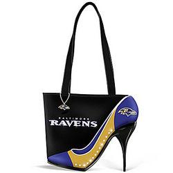 Baltimore Ravens Kick Up Your Heels Handbag