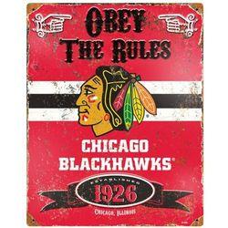 Chicago Blackhawks Vintage Metal Sign