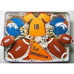 Go Broncos Cookie Gift Tin