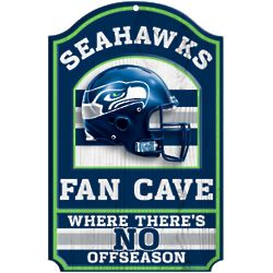 Seattle Seahawks Wood Fan Cave Sign