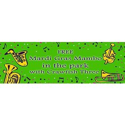 Musical Instruments 30x82 Personalized Vinyl Banner