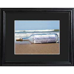 Personalized Framed Message in a Bottle Print