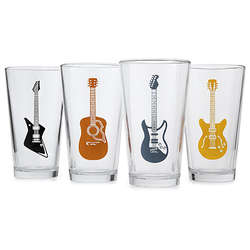 Guitar Drinking Glasses