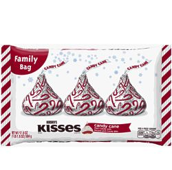 Hershey's Kisses Candy Cane Chocolates