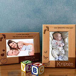 Personalized Little Feet Wooden Picture Frame