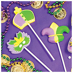 Mardi Gras Lollipops