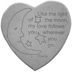 My Love Follows You Decorative Garden Stone