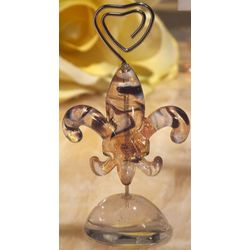 Murano Art Deco Fleur de Lis Place Card Holder