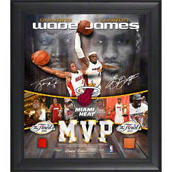LeBron James and Dwyane Wade Framed Multi-Photo Collage