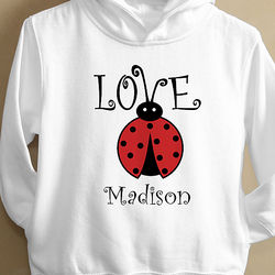 Personalized Kids' Love Bug Hoodie