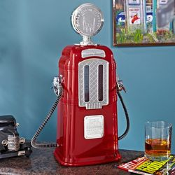 Red Retro Gas Pump Liquor Dispenser