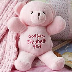 Plush Pink Bear Personalized My First Furry Friend