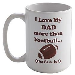 Personalized Love You More Than Football Mug