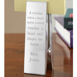 Personalized Teacher Clothespin Paperweight