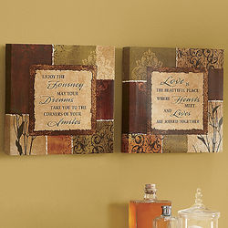 Dreams and Love Inspirational Wall Decor Set