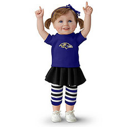 Baltimore Ravens Fan Girl Doll