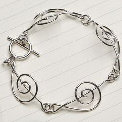Treble Clef Toggle Bracelet