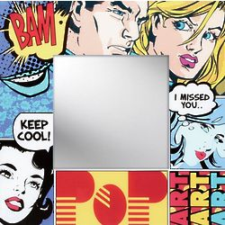 Comic Strip Art Mirror