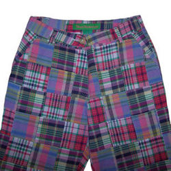 Truro Creek Madras Patchwork Capri Pants