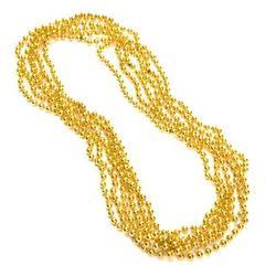 "33"" 7 mm Gold Mardi Gras Beads"