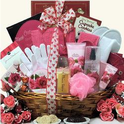 Rose Spa Haven Valetine's Day Bath & Body Gift Basket