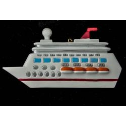 Cruise Ship / Vacation Personalized Christmas Ornament