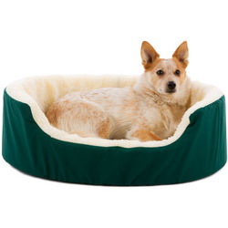 Canine Cushion Orthopedic Fabric and Fleece Dog Bed