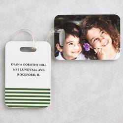 Personalized Photo Luggage Tag Set