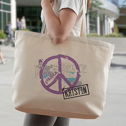 Personalized Peace Tote Bag
