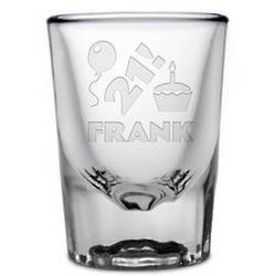 Personalized 21st Birthday Shot Glass