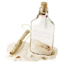 Tropical Beach Wedding Invitation in a Bottle