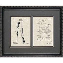 Duck Decoy & Shotgun 16x20 Framed Patent Art Print