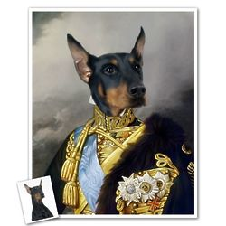 General Barkenhounder Personalized Art Print