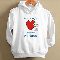 Puppy Heart Belongs To Toddler Hooded Sweatshirt