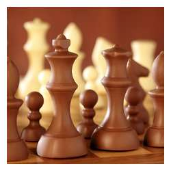 Chocolate Chess Pieces Valentine's Box